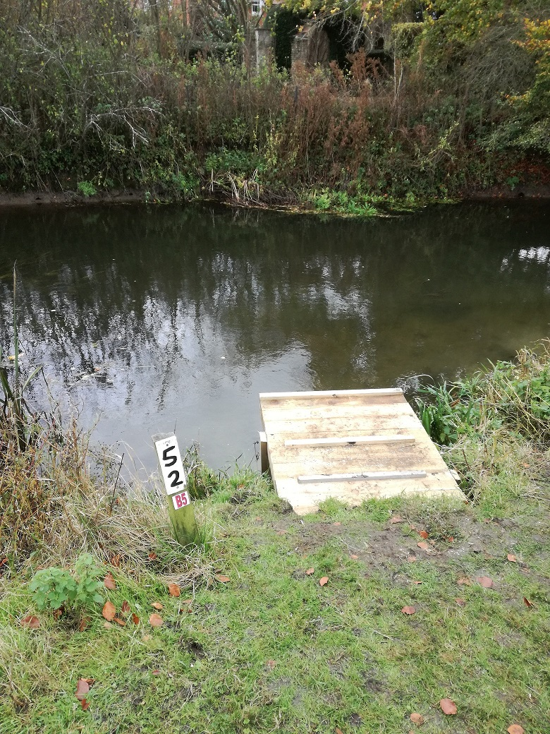 After with the platform on peg 52